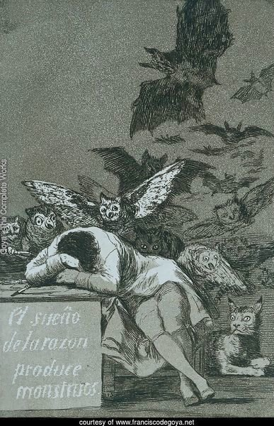 El Sueno de la razon produce monstruos (The sleep of reason brings forth monsters)