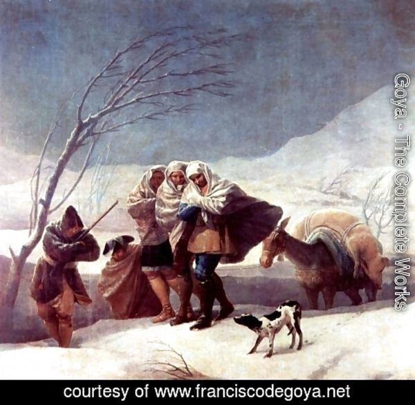 Goya - Winter (or The Snowstorm)