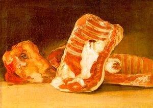 Goya - Still life with sheep's head