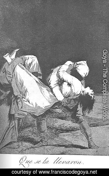 Goya - Caprichos - Plate 8: They Carried her Off