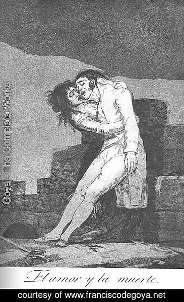 Goya - Caprichos - Plate 10: Love and Death