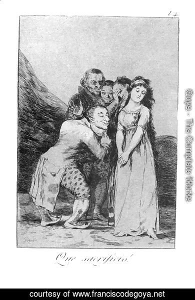 Goya - Caprichos - Plate 14: What a Sacrifice!