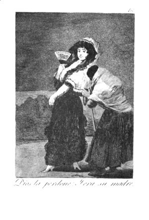 Goya - Caprichos - Plate 16: For Heaven's Sake - and it was her Mother