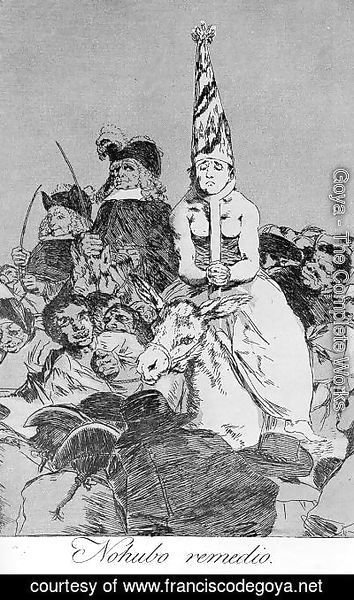 Goya - Caprichos - Plate 24: Nothing Could be Done About it