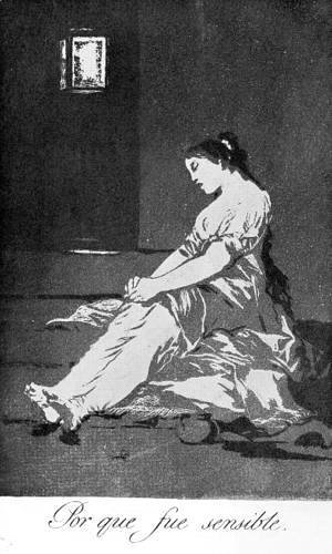 Goya - Caprichos - Plate 32: Because she was Susceptible