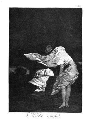 Goya - Caprichos - Plate 36: A Bad Night