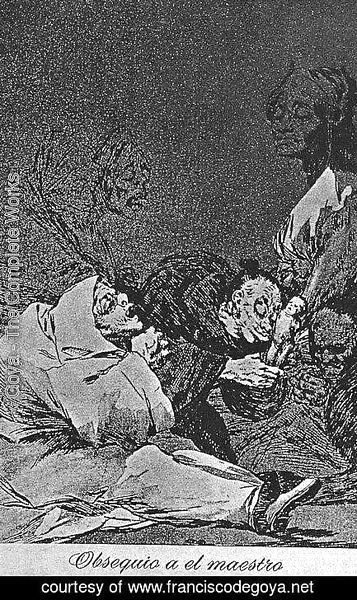 Goya - Caprichos - Plate 47: Homage to the Master