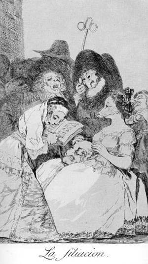 Goya - Caprichos - Plate 57: The Filiation