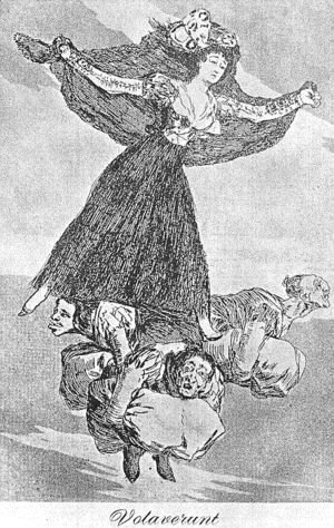 Goya - Caprichos - Plate 61: They are Flying