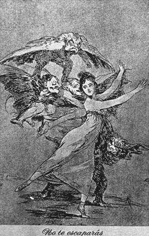 Goya - Caprichos - Plate 72: You Cannot Escape