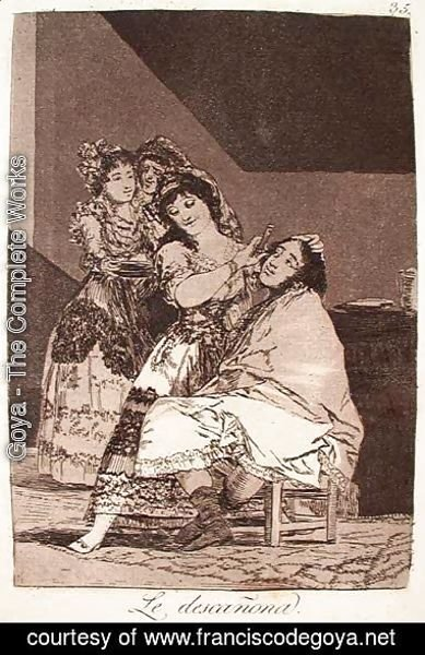 Goya - She Fleeces Him