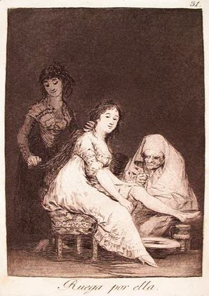 Goya - She Prays for Her