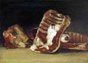 Goya - A Butcher's Counter