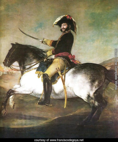 General Palafox with a horse