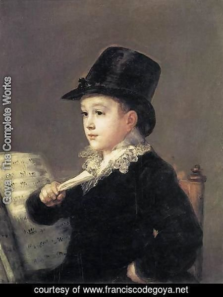 Goya - Portrait of Mariano Goya, the Artist's Grandson