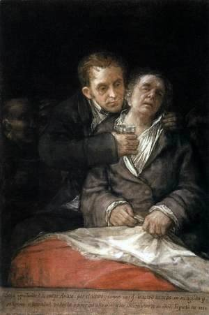 Goya - Self-Portrait with Doctor Arrieta