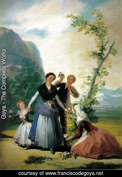 Goya - Spring (The Flower Girls)