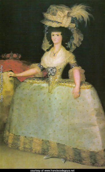 The queen Maria Luisa