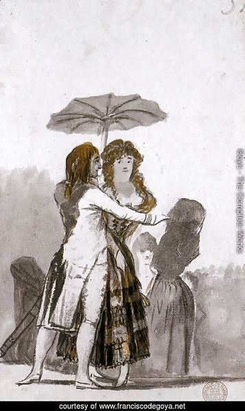 Couple with Parasol on the Paseo