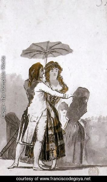 Goya - Couple with Parasol on the Paseo
