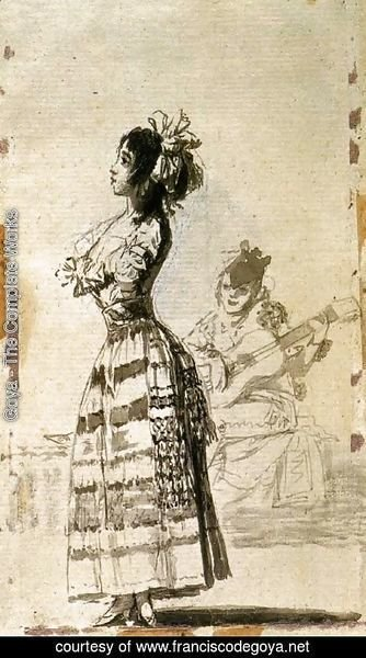 Goya - Girl Listening to a Guitar