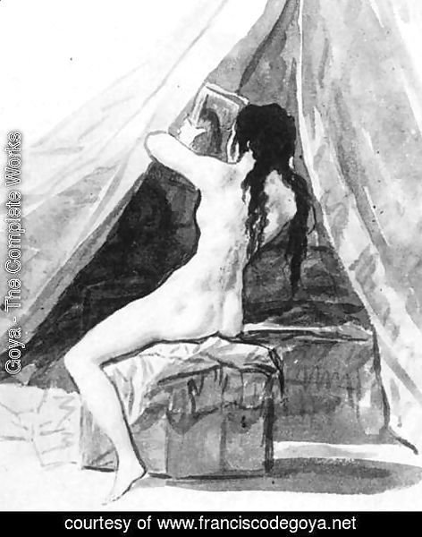 Goya - Nude Woman Holding a Mirror