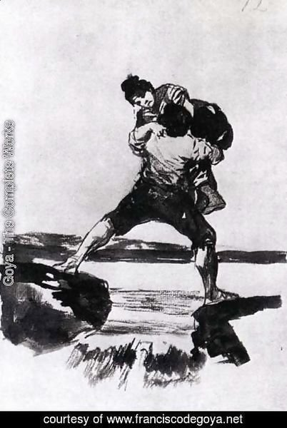 Goya - Peasant Carrying a Woman