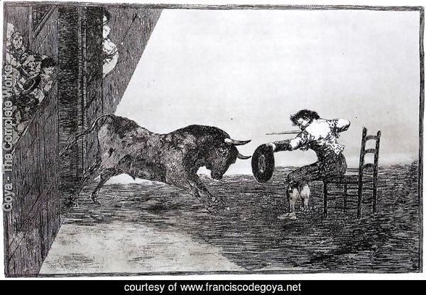 The Bravery of Martincho in the Ring of Saragassa (Tauromaquia 18)