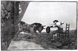 Goya - The Bravery of Martincho in the Ring of Saragassa (Tauromaquia 18)