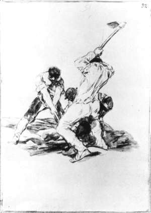 Goya - Three Men Digging