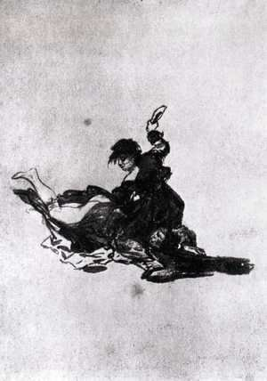 Goya - Woman Hitting Another Woman with a Shoe