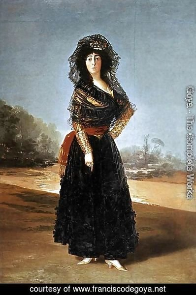 Goya - Portrait of the Duchess of Alba 2