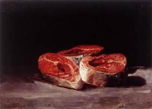 Goya - Still-Life Three Salmon Steaks