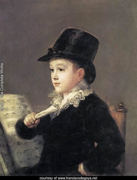 Portrait of Mariano Goya, the Artist's Grandson 2
