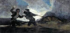 Goya - Duel with Cudgels 2