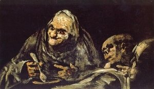 Goya - Two Women Eating