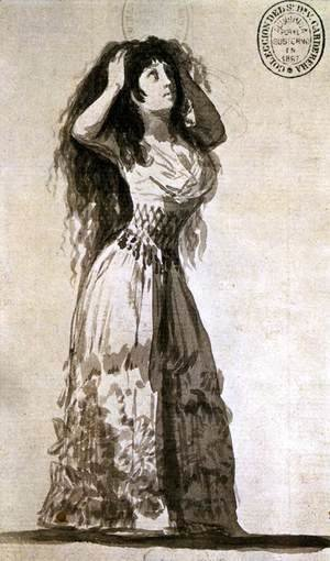 Goya - The Duchess of Alba Arranging Her Hair 2