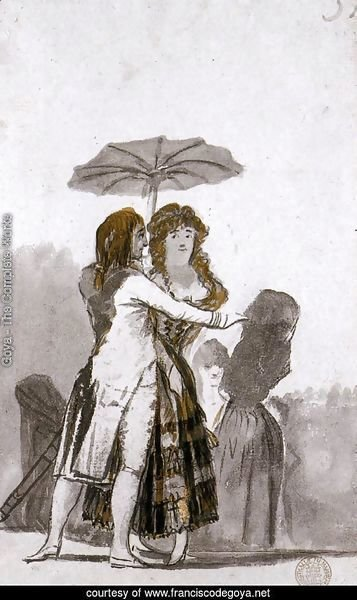 Couple with Parasol on the Paseo 2
