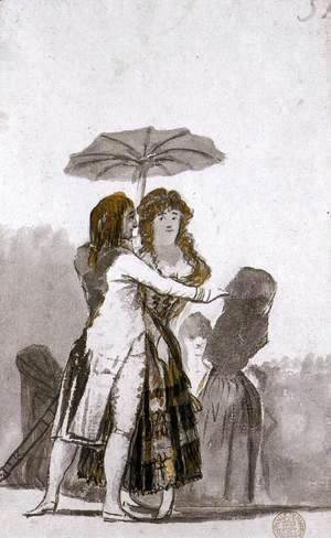 Goya - Couple with Parasol on the Paseo 2