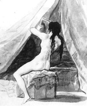 Goya - Nude Woman Holding a Mirror 2