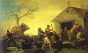 Goya - Fight At The Cock Inn 1777