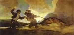 Goya - Fight With Clubs 1820-1823