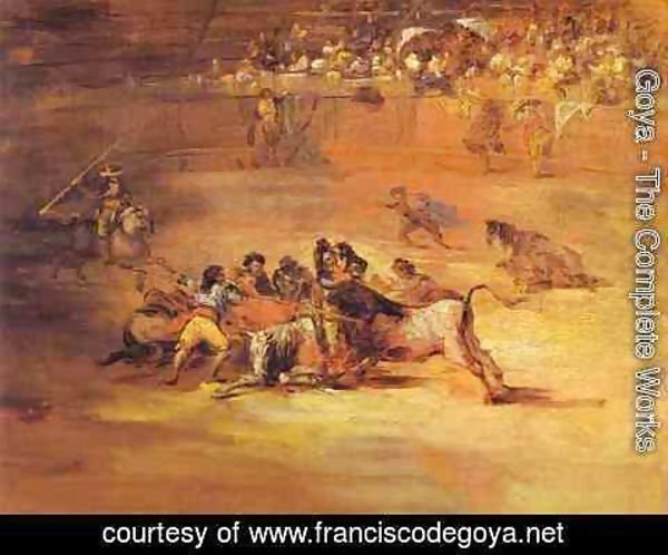 Goya - Scene Of Bullfight 1824-1825