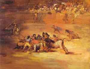 Scene Of Bullfight 1824-1825
