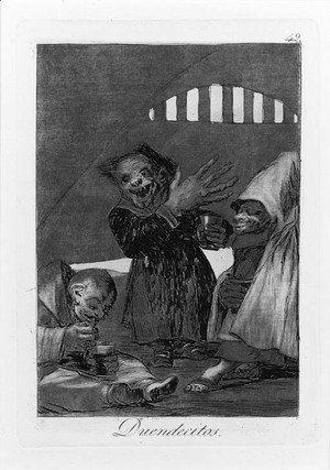 Goya - Duendecitos, Plate 49, from Los Caprichos