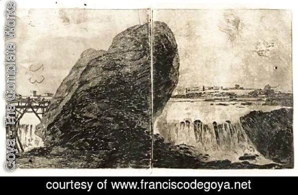 Goya - Landscape with Waterfall