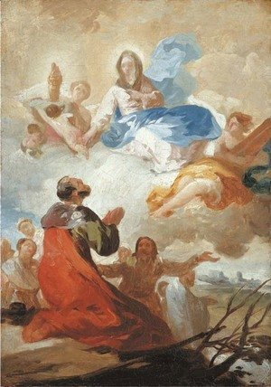 Goya - The Appearance of the Virgen del Pilar to Saint James