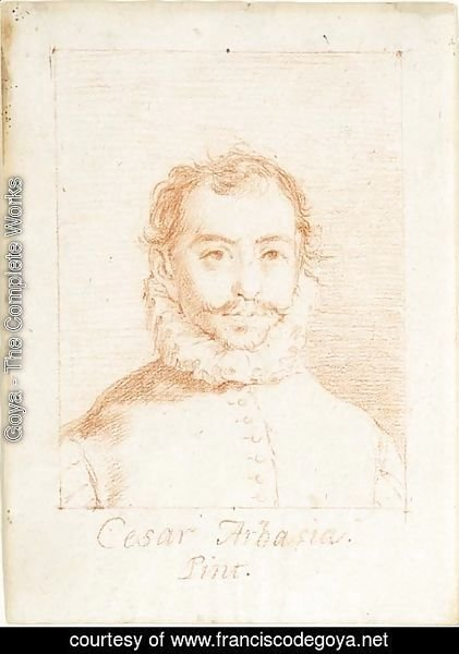 Goya - Portrait of Cesar Arbasia, bust-length