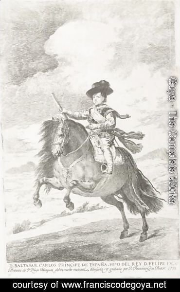 Goya - Balthasar Carlos, After Diego Velasquez