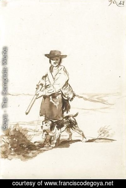 Goya - A Hunter With His Dog In A Landscape